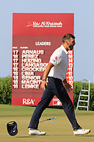 Adri Arnaus (ESP) reacts to his winning putt during the final round of the Ras Al Khaimah Challenge Tour Grand Final played at Al Hamra Golf Club, Ras Al Khaimah, UAE. 03/11/2018<br /> Picture: Golffile | Phil Inglis<br /> <br /> All photo usage must carry mandatory copyright credit (&copy; Golffile | Phil Inglis)