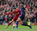 Philip Billing of Bournemouth tackled by Trent Alexander-Arnold of Liverpoolduring the Premier League match at Anfield, Liverpool. Picture date: 7th March 2020. Picture credit should read: Darren Staples/Sportimage