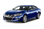 2016 Nissan Maxima SV 4 Door Sedan Angular Front stock photos of front three quarter view