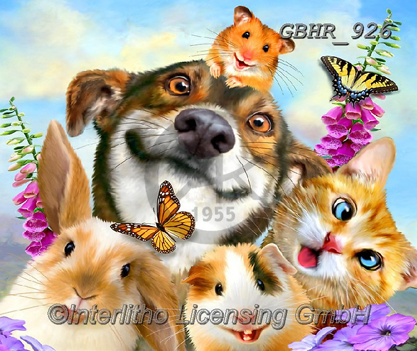 Howard, REALISTIC ANIMALS, REALISTISCHE TIERE, ANIMALES REALISTICOS, paintings+++++,GBHR926,#a#, EVERYDAY ,selfies