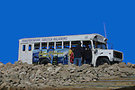 PASSENGER TOURISTS RETURN to BUS FROM WHALE WATCHING<br />
