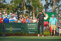Bubba Watson (USA) is introduced on 10 during round 1 of The Players Championship, TPC Sawgrass, at Ponte Vedra, Florida, USA. 5/10/2018.<br /> Picture: Golffile | Ken Murray<br /> <br /> <br /> All photo usage must carry mandatory copyright credit (&copy; Golffile | Ken Murray)