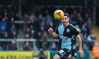 Matt Bloomfield of Wycombe Wanderers in action during the Sky Bet League 2 match between Wycombe Wanderers and Bristol Rovers at Adams Park, High Wycombe, England on 27 February 2016. Photo by Andy Rowland.