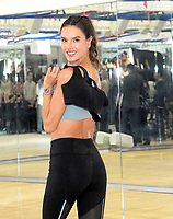 NEW YORK, NY - OCTOBER 10: Victoria's Secret Angel Alessandra Ambrosio  preps for this year's VSFS runway in Shanghai with a workout at  Tracy Anderson on October 10, 2017 in New York City. <br /> CAP/MPI/JP<br /> &copy;JP/MPI/Capital Pictures