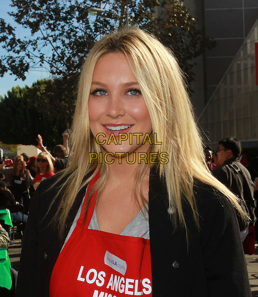 STEPHANIE PRATT.Christmas Eve For Homeless Served at Los Angeles Mission held At The Los Angeles Mission, Los Angeles, CA, USA..December 24th, 2010.headshot portrait black red .CAP/ADM/KB.©Kevan Brooks/AdMedia/Capital Pictures.