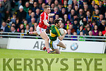 Killian Young Kerry in action against Jamie O Sullivan Cork in the National Football league in Austin Stack Park, Tralee on Sunday.