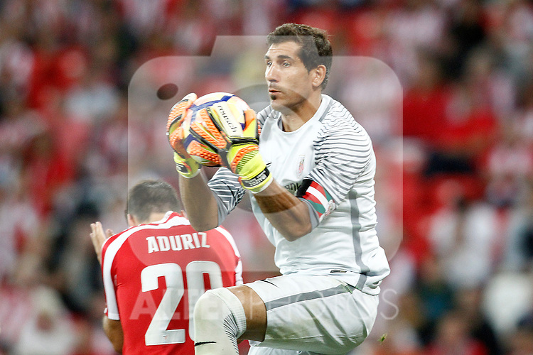 Athletic de Bilbao's Gorka Iraizoz during La Liga match. August 28,2016. (ALTERPHOTOS/Acero)