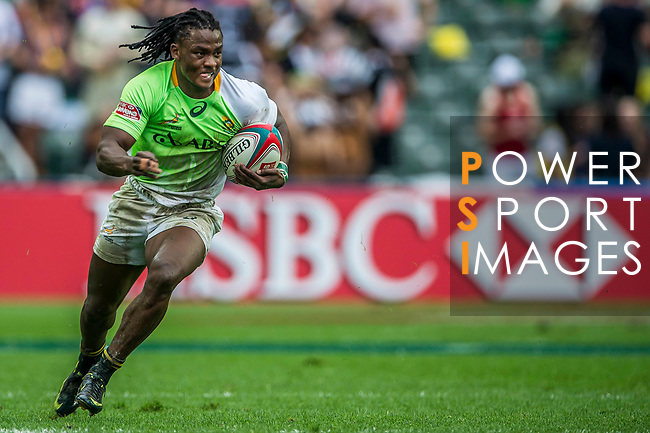 South Africa vs Spain during the Cathay Pacific / HSBC Hong Kong Sevens at the Hong Kong Stadium on 29 March 2014 in Hong Kong, China. Photo by Victor Fraile / Power Sport Images