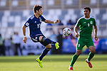 Sakai Hiroki of Japan (L) in action during the AFC Asian Cup UAE 2019 Group F match between Japan (JPN) and Turkmenistan (TKM) at Al Nahyan Stadium on 09 January 2019 in Abu Dhabi, United Arab Emirates. Photo by Marcio Rodrigo Machado / Power Sport Images