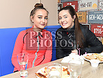 Victoria Smerza and Erin Scott at the opening of the new B's Diner at the Boomerang Cafe. Photo:Colin Bell/pressphotos.ie