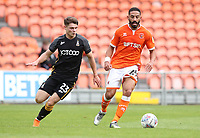 Blackpool's Liam Feeney and Bradford City's Connor Wood<br /> <br /> Photographer Rachel Holborn/CameraSport<br /> <br /> The EFL Sky Bet League One - Blackpool v Bradford City - Saturday September 8th 2018 - Bloomfield Road - Blackpool<br /> <br /> World Copyright &copy; 2018 CameraSport. All rights reserved. 43 Linden Ave. Countesthorpe. Leicester. England. LE8 5PG - Tel: +44 (0) 116 277 4147 - admin@camerasport.com - www.camerasport.com