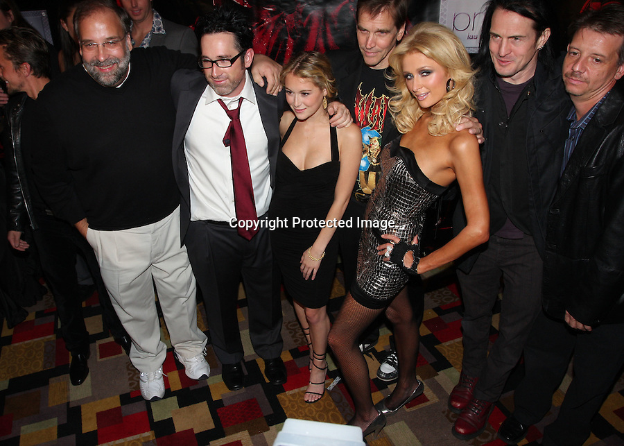 "11-7-08 ..    Planet Hollywood holds the Las Vegas Premiere for ""Repo! The Genetic Opera"".Paris shows with Benji Madden, and also takes pics with Jeff Beacher .and members of the Crew..Also appearing are Criss Angel and Holly Madison ..AbilityFilms@yahoo.com.805-427-3519.www.abilityfilms.com"