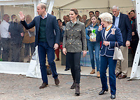 Prince William Duke of Cambridge and Kate Duchess of Cambridge Katherine Catherine Middleton visit the market town of Keswick in Cumbria where they join a celebration to recognise the contribution of individuals and local organisations in supporting communities and families across Cumbria. They meet volunteers including those from the local mountain rescue service, community first responders, young people trained as mental health first aiders and other organisations that have benefitted from grants from the Cumbria Community Foundation. Photo Credit: ALPR/AdMedia