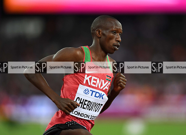Timothy CHERUIYOT (KEN) in the mens 1500m semi-final. IAAF world athletics championships. London Olympic stadium. Queen Elizabeth Olympic park. Stratford. London. UK. 11/08/2017. ~ MANDATORY CREDIT Garry Bowden/SIPPA - NO UNAUTHORISED USE - +44 7837 394578