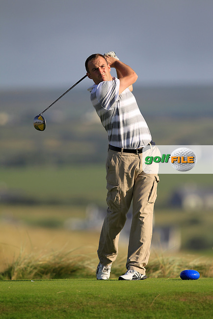 Tony O'Leary (Wexford) on the 2nd tee during the South of Ireland Amateur Open Championship First Round at Lahinch Golf Club  27th July 2013 <br /> Picture:  Thos Caffrey / www.golffile.ie