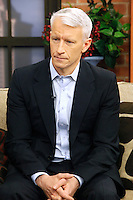 "Anderson Cooper photographed on CBS 3's noon ""Talk Philly"" show in Philadelphia, Pa on October 28, 2011  © Star Shooter / MediaPunchInc /*NORTEPHOTO.COM*<br />