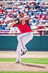 11 March 2014: Washington Nationals pitcher Daniel Stange on the mound during a Spring Training game against the New York Yankees at Space Coast Stadium in Viera, Florida. The Nationals defeated the Yankees 3-2 in Grapefruit League play. Mandatory Credit: Ed Wolfstein Photo *** RAW (NEF) Image File Available ***