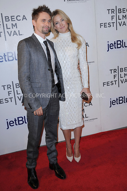 WWW.ACEPIXS.COM . . . . . .April 22, 2013...New York City....Matthew Bellamy and Kate Hudson attend the 'Reluctant Fundamentalist' US Premiere during the 2013 Tribeca Film Festival on April 22, 2013 in New York City ....Please byline: KRISTIN CALLAHAN - ACEPIXS.COM.. . . . . . ..Ace Pictures, Inc: ..tel: (212) 243 8787 or (646) 769 0430..e-mail: info@acepixs.com..web: http://www.acepixs.com .