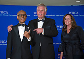 Reverend Al Sharpton, former Governor Terry McAuliffe (Democrat of Virginia), and Dorothy McAuliffe arrive for the 2018 White House Correspondents Association Annual Dinner at the Washington Hilton Hotel on Saturday, April 28, 2018.<br /> Credit: Ron Sachs / CNP<br /> <br /> (RESTRICTION: NO New York or New Jersey Newspapers or newspapers within a 75 mile radius of New York City)