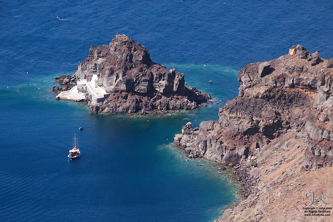 Coastline near the Harbor in Oia