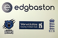 General view of the Edgbaston sign during Warwickshire CCC vs Essex CCC, Specsavers County Championship Division 1 Cricket at Edgbaston Stadium on 13th September 2017