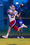 Christian Academy Nick Weaver (17) caught a pass on the way to a touchdown as Lexington Christian Academy hosted Christian Academy of Louisville on Saturday August 23, 2014 in Lexington, Ky.  Photo by Mark Mahan
