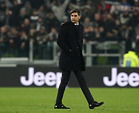Calcio, Coppa Italia round 8 : Juventus - AS Roma, Turin, Allianz Stadium, January 22, 2020.<br /> Roma's coach Paulo Fonseca at the end of the Italian Cup football round 8 match between Juventus and Roma at the Allianz stadium in Turin, January 22, 2020.<br /> UPDATE IMAGES PRESS/Isabella Bonotto