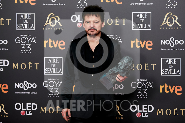 Coque Malla ( best original song award for 'Campeones') attends to 33rd Goya Awards at Fibes - Conference and Exhibition  in Seville, Spain. February 03, 2019. (ALTERPHOTOS/A. Perez Meca)