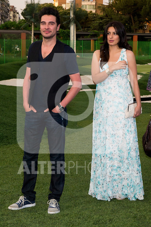 05.06.2012. Kenzo Summer Party at Green Golf Channel in Madrid. In the image  Jose Manuel Seda  and Aurora Carbonell (Alterphotos/Marta Gonzalez)