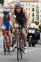 Massimo de Ponti of Italy during the 2017 Madrid ITU Triathlon World Cup in Madrid, May 28, 2017. Spain.. (ALTERPHOTOS/Rodrigo Jimenez) /NortePhoto.com