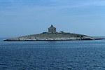 .Pokondiol light house near Hvar.Cruise in Croatia. Island of Dalmatia