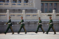 Military policemen in Tian'an Men Square, Beijing, China