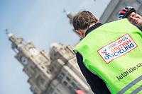 Picture by Allan McKenzie/SWpix.com - 24/09/2017 - Cycling - HSBC UK City Ride Liverpool - Albert Dock, Liverpool, England - HSBC UK, Lets ride, city ride, branding, Liver building.