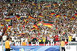 08 July 2006: Germany fans wave flags in the stands, pregame. Germany defeated Portugal 3-1 at the Gottlieb-Daimler Stadion in Stuttgart, Germany in match 63, the third-place game, of the 2006 FIFA World Cup.