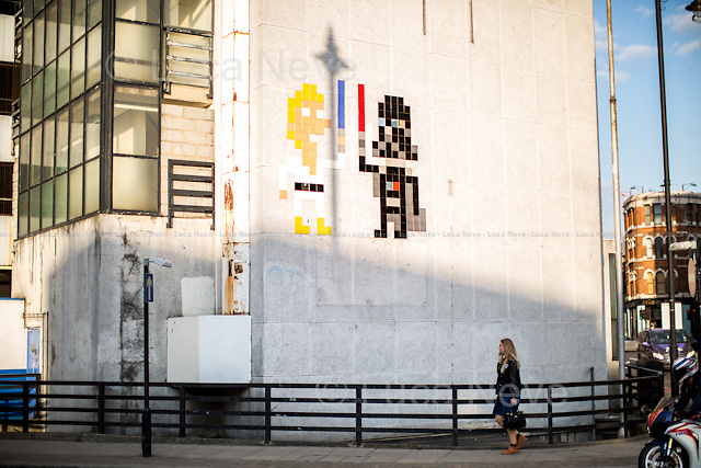 Space Invader - &quot;Star Wars&quot;. <br /> <br /> London &amp; Londoners 2014