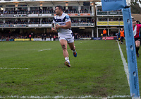 Bristol Bears' Alapati Leiua scores his sides second try<br /> <br /> Photographer Bob Bradford/CameraSport<br /> <br /> Gallagher Premiership - Bath Rugby v Bristol Bears - Sunday 1st March 2020 - The Recreation Ground - Bath<br /> <br /> World Copyright © 2020 CameraSport. All rights reserved. 43 Linden Ave. Countesthorpe. Leicester. England. LE8 5PG - Tel: +44 (0) 116 277 4147 - admin@camerasport.com - www.camerasport.com