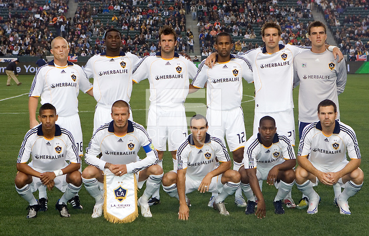 LA Galaxy starting XI. The New York Red Bulls defeated the LA Galaxy 2-1 at Home Depot Center Stadium, in Carson, Calif., on Saturday, May 10, 2008.