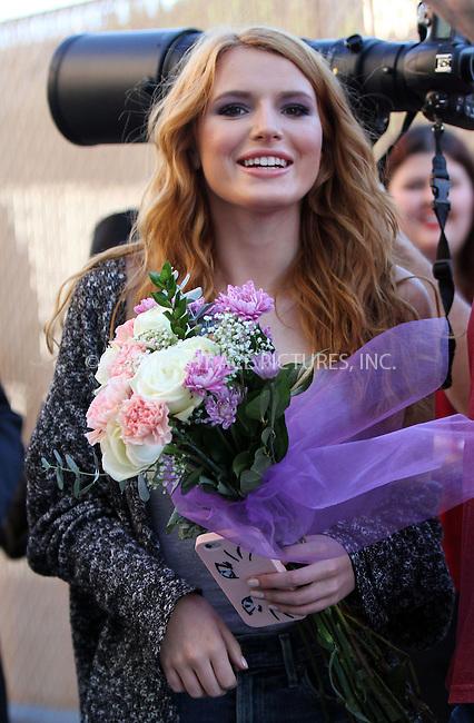 WWW.ACEPIXS.COM<br /> <br /> February 24 2015, Los Angeles Ca<br /> <br /> Actress Bella Thorne arriving at 'Jimmy Kimmel Live' on February 24 2015 in Los Angeles Ca.<br /> <br /> <br /> Please byline: Nancy Rivera/ACE Pictures<br /> <br /> ACE Pictures, Inc.<br /> www.acepixs.com, Email: info@acepixs.com<br /> Tel: 646 769 0430