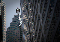 TD Canada Trust logo is seen on top of a skyscraper in Toronto financial district April 19, 2010. TD Canada Trust is the personal, small business and commercial banking operation of the Toronto-Dominion Bank (TD) in Canada.