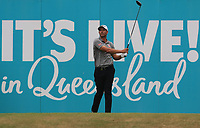 Adam Scott (AUS) on the 18th tee during Round 4 of the Australian PGA Championship at  RACV Royal Pines Resort, Gold Coast, Queensland, Australia. 22/12/2019.<br /> Picture Thos Caffrey / Golffile.ie<br /> <br /> All photo usage must carry mandatory copyright credit (© Golffile   Thos Caffrey)