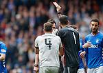 28.04.2019 Rangers v Aberdeen: Andy Considine sent off