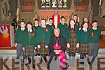 Listowel Confirmation: Pupils from Gael Scoil, Listowel who were confirmed in St. Mary's Church by Bishop Bill Murphy on Monday last.