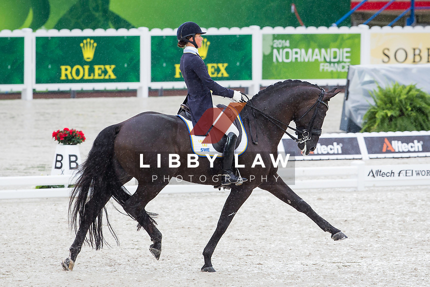 SWE-Minna Telde (SANTANA) INTERIM-8TH: GRAND PRIX: Team Competition (Qualifier for the Grand Prix Special) The Alltech FEI World Equestrian Games 2014 In Normandy - France (Monday 25 August) CREDIT: Libby Law COPYRIGHT: LIBBY LAW PHOTOGRAPHY - NZL