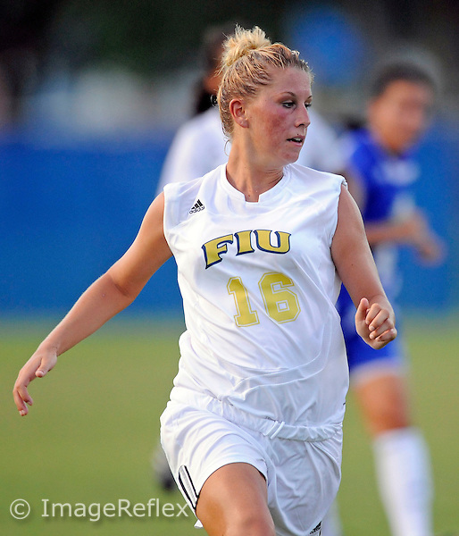 Florida International University women's soccer player defender Stacy Kroleski (16) plays against Florida Gulf Coast University which won the game 3-2 on August 24, 2008 at Miami, Florida. .