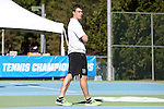 14 May 2016: Dartmouth head coach Chris Drake. The Tulane University Green Wave played the Dartmouth College Big Green at the Cone-Kenfield Tennis Center in Chapel Hill, North Carolina in a 2015-16 NCAA Division I Men's Tennis Tournament First Round match. Tulane won the match 4-0.