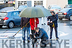 Abbey Leaks movie being shot last Thursday morning outside the Irish Cancer Society shop, in Tralee, as part of a three day film shoot in Kerry last week for a new short film by Tralee man, Patrick McDonnell.