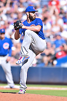 Chicago Cubs starting pitcher Jake Arrieta (49) delivers a pitch during a game against the Atlanta Braves at Turner Field on June 11, 2016 in Atlanta, Georgia. The Cubs defeated the Braves 8-2. (Tony Farlow/Four Seam Images)