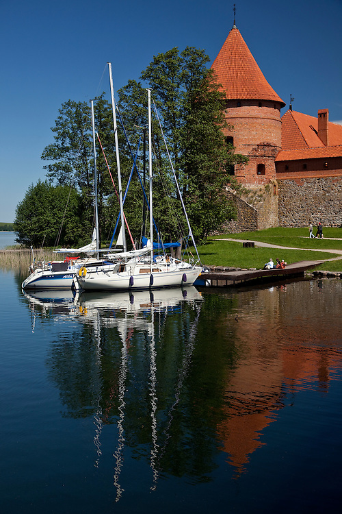 Trakai Castle was build to fend off German knights in the 14th century