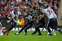 3rd November 2019; Wembley Stadium, London, England; National Football League, Houston Texans versus Jacksonville Jaguars; Quarterback Deshaun Watson of Houston Texans runs with the ball - Editorial Use