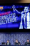Presentation of Ernesto Valverde as new Coach of FC Barcelona.<br /> Ernesto Valverde, Jordi Mestre &amp; Robert Fernandez.